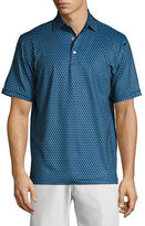 Peter Millar Crown Sport Bruce Dot-Print Performance Polo Shirt, Dark Blue