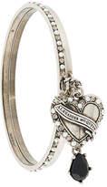 Alexander McQueen heart locket bracelet