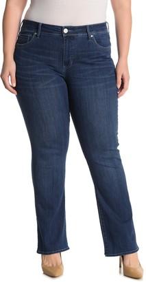 Seven7 Rocker Mid Rise Slim Boot Jeans (Plus Size)
