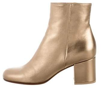 Gianvito Rossi Metallic Ankle Boots