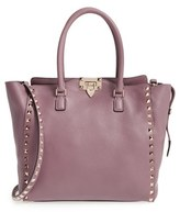 Valentino 'Rockstud - Alce' Leather Tote - Black