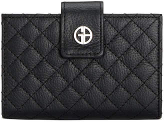 Giani Bernini Quilted Leather Framed Indexer Wallet