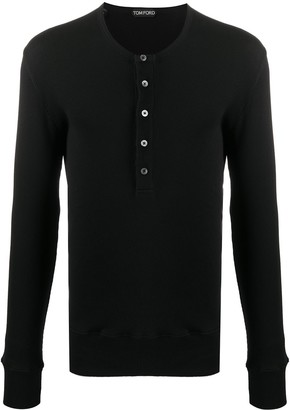 Tom Ford Ribbed-Knit Cotton Long Sleeve