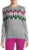 No.21 No. 21 Novelty Argyle Wool Sweater