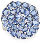 Rina Limor Fine Jewelry Signature Slice-Cut Sapphire & Diamond Statement Ring, Size 7