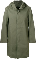 MACKINTOSH hooded button-down coat