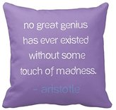 Starings Home Office Pillow Case Cushion Cover Crazy Genius Quote Pillow Cover
