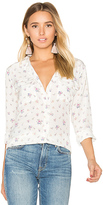 Equipment Slim Signature Floral Print Button Up in White