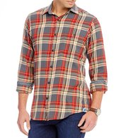 Daniel Cremieux Sologne Plaid Vintage Twill Long-Sleeve Woven Shirt