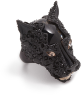 Alexis Bittar Crystal Encrusted Panther Ring