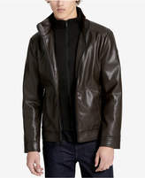 Calvin Klein Men's Faux-Leather Open-Bottom Jacket, A Macy's Exclusive Style