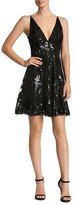 Dress the Population Sequin Lace Fit-And-Flare Dress