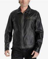 Lucky Brand Men's Distressed Faux Leather Jacket