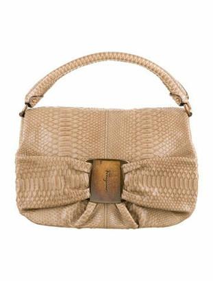 Salvatore Ferragamo Python Handle Bag Brass