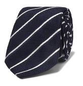 Canali - 8cm Striped Woven Silk Tie