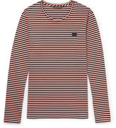 Acne Studios Striped Cotton-jersey T-shirt - Pink