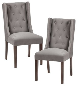 Darby Home Co Maxwell Upholstered Dining Chair Upholstery Color: Light Brown