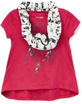 KensieGirl Maroon Dream Catcher Top & Scarf - Toddler & Girls