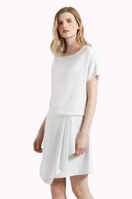 Great Plains Olivia Crepe Draped Front Dress