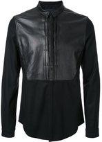 Juun.J leather detail shirt