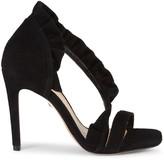 Schutz Aime Suede Leather d'Orsay High-Heel Sandals