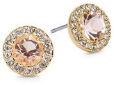 Nadri Pave Round Stud Earrings