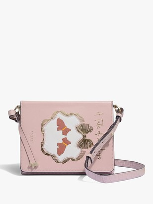 Radley Book Street A Tale Of Two Dogs Leather Bifold Purse, Praire Pink
