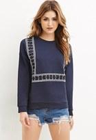 Forever 21 FOREVER 21+ Tribal-Inspired Crew Neck Sweater