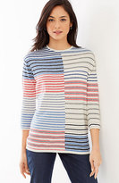 J. Jill Mixed-Stripes Easy Pullover