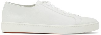 Santoni Grained-leather Trainers - White