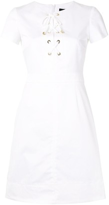 Paule Ka Lace Up Mini Dress