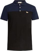 MAISON KITSUNÉ Bi-colour cotton-piqué polo shirt