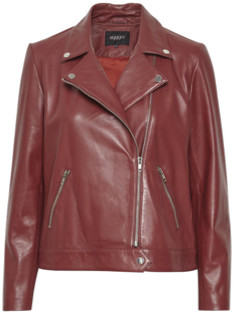 Maeve Soaked In Luxury Soaked in Luxury Leather Biker Jacket - small