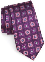 Nordstrom 'City Diamond Neat' Square Medallion Silk Tie