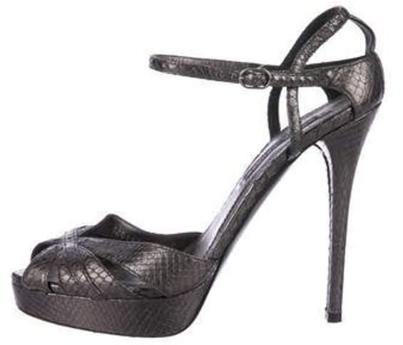024aac6455f Snakeskin Platform Sandals Snakeskin Platform Sandals