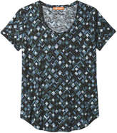 Joe Fresh Women's Print Slub Knit Tee, Indigo (Size XL)