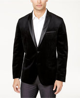 INC International Concepts Men's Slim-Fit Black Velvet Peak-Lapel Blazer, Created for Macy's