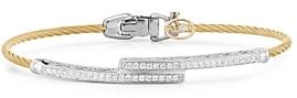 Alor Cable Bangle with Diamonds