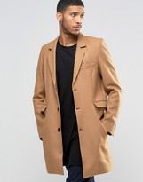 Mens Camel Wool Coat - ShopStyle