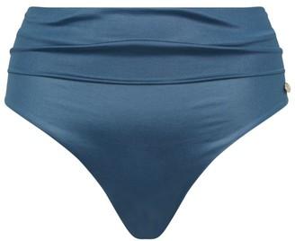 Max Mara Ruched High-Waist Bikini Bottoms