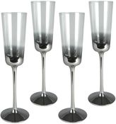 Artland Shadow 4-pc. Flute Glass Set