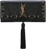 Saint Laurent classic Kate tassel clutch bag - women - Leather - One Size