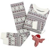 Burt's Bees Baby® Fair IsleTM Snowflake 2-Piece PJs and Ornament Set in Red