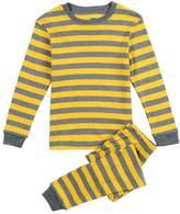 CNBABY Yellow Stripe Toddler Boy Pajamas 100% Cotton (4 Toddler)