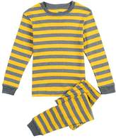 CNBABY Yellow Striped Little Boy Pajamas Sets 100% Cotton