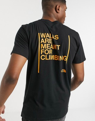 The North Face Walls Are Meant For Climbing t-shirt in black