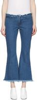 Marques Almeida Blue Flared Capri Jeans