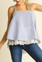 Umgee USA Blue Sleeveless Top