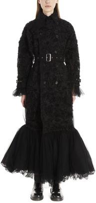 Noir Kei Ninomiya Tulle Trench Coat