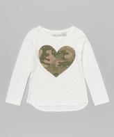E-Land Kids Vanilla Camo Heart Tee - Girls